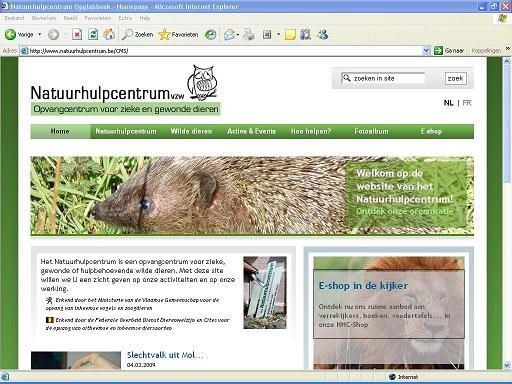 Natuurhulpcentrum heeft nieuwe website...