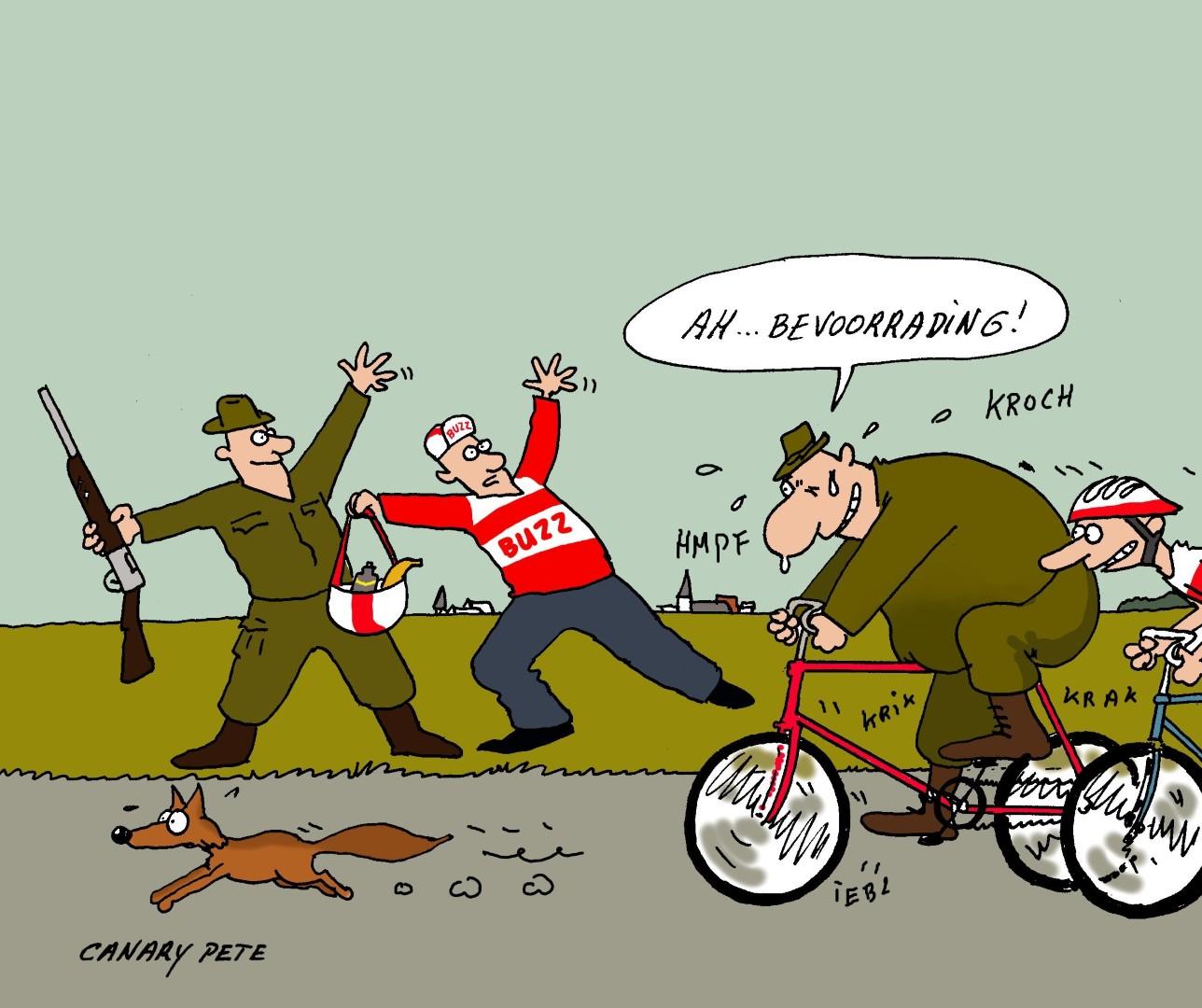 Jagers op de fiets...