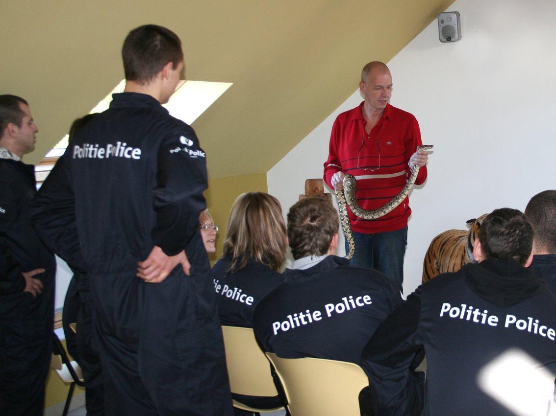 Politie op bezoek...